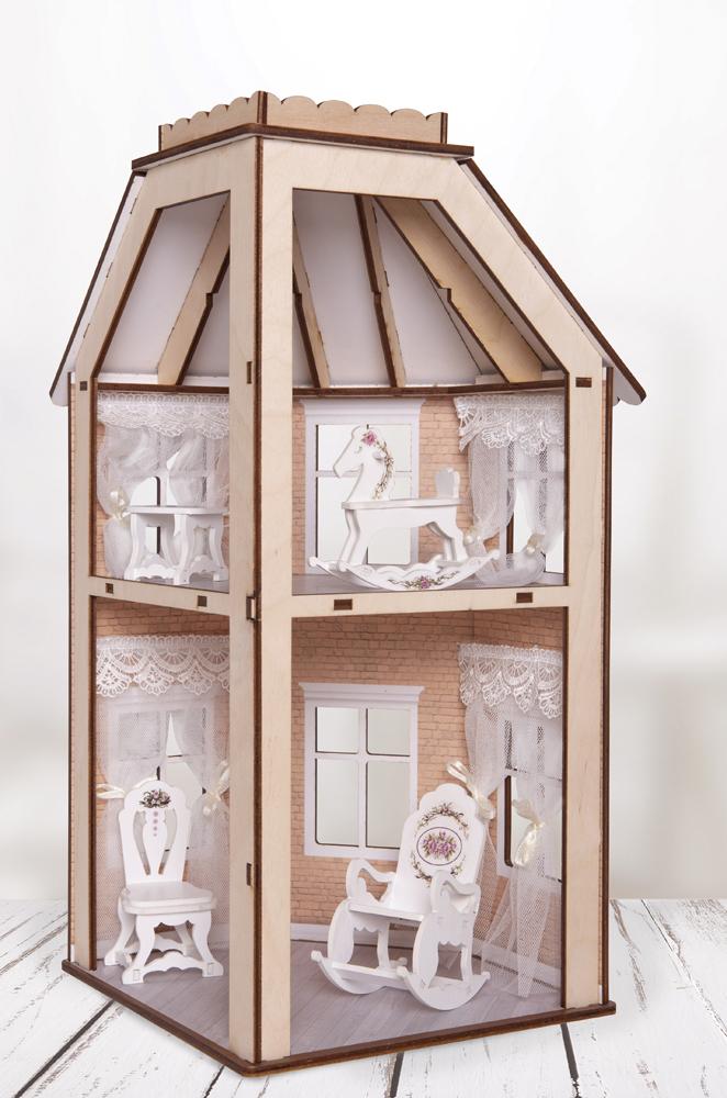 Дом для кукол ЯиГрушка Флигель, 59832 дом для кукол яигрушка маленькая мечта 59831