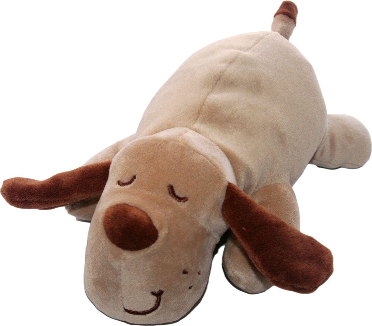 Мягкая игрушка СмолТойс Собачка Лежебока длина 55 см бежевый мягкие игрушки смолтойс медвежонок лежебока