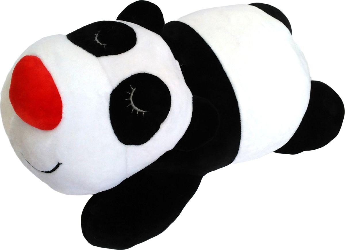 Мягкая игрушка СмолТойс Панда Лежебока длина 53 см белый мягкие игрушки смолтойс медвежонок лежебока