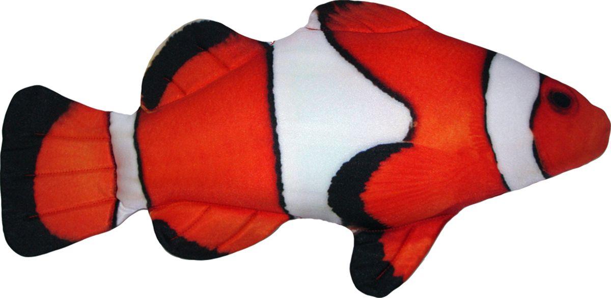 """Мягкая игрушка """"Рыба-антистресс Клоун"""" длина 50см белый, красный"""
