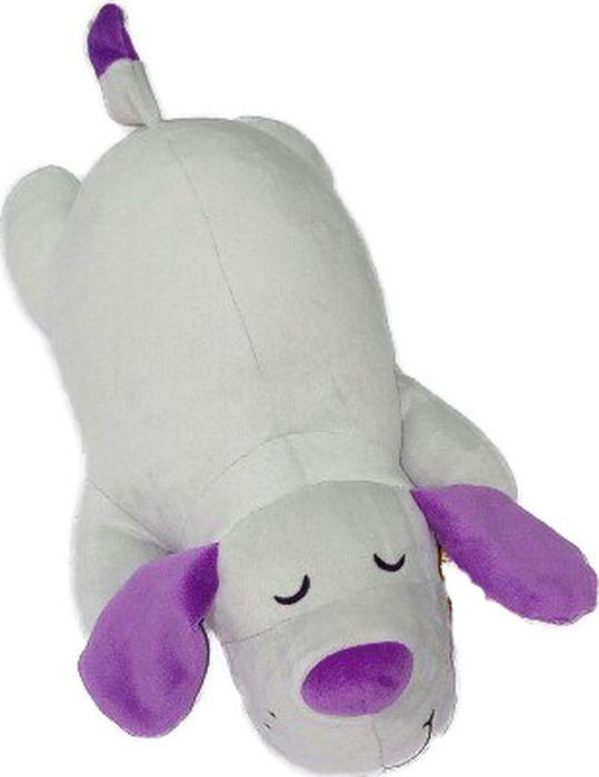 Мягкая игрушка СмолТойс Собачка Лежебока длина 35 см серый мягкие игрушки смолтойс медвежонок лежебока