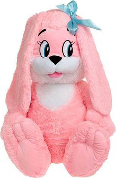 """Мягкая игрушка СмолТойс """"Зайчик"""", цвет: розовый, высота 80 см"""