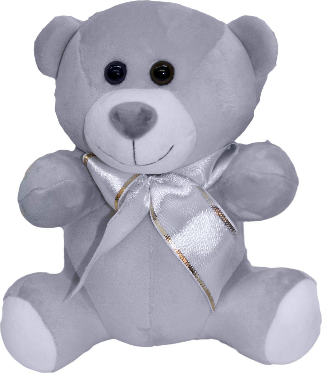 """Мягкая игрушка СмолТойс """"Медвежонок Мотя"""", цвет: серый, высота 30 см"""