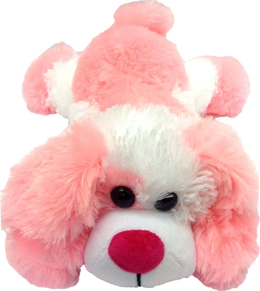 """Мягкая игрушка СмолТойс """"Щенок"""" длина 45 см белый, розовый"""