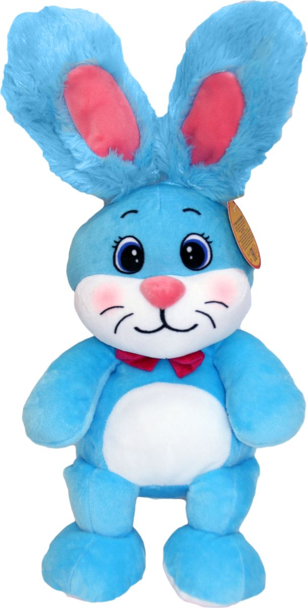 """Мягкая игрушка СмолТойс """"Зайка Сеня"""", цвет: голубой, высота 34 см"""