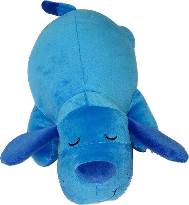Мягкая игрушка СмолТойс Собачка Лежебока длина 35 см голубой мягкие игрушки смолтойс медвежонок лежебока