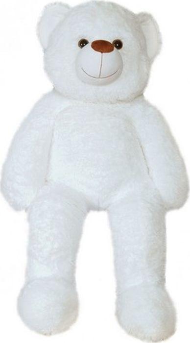 """Мягкая игрушка СмолТойс """"Медведь с коленками"""", цвет: белый, высота 100 см"""