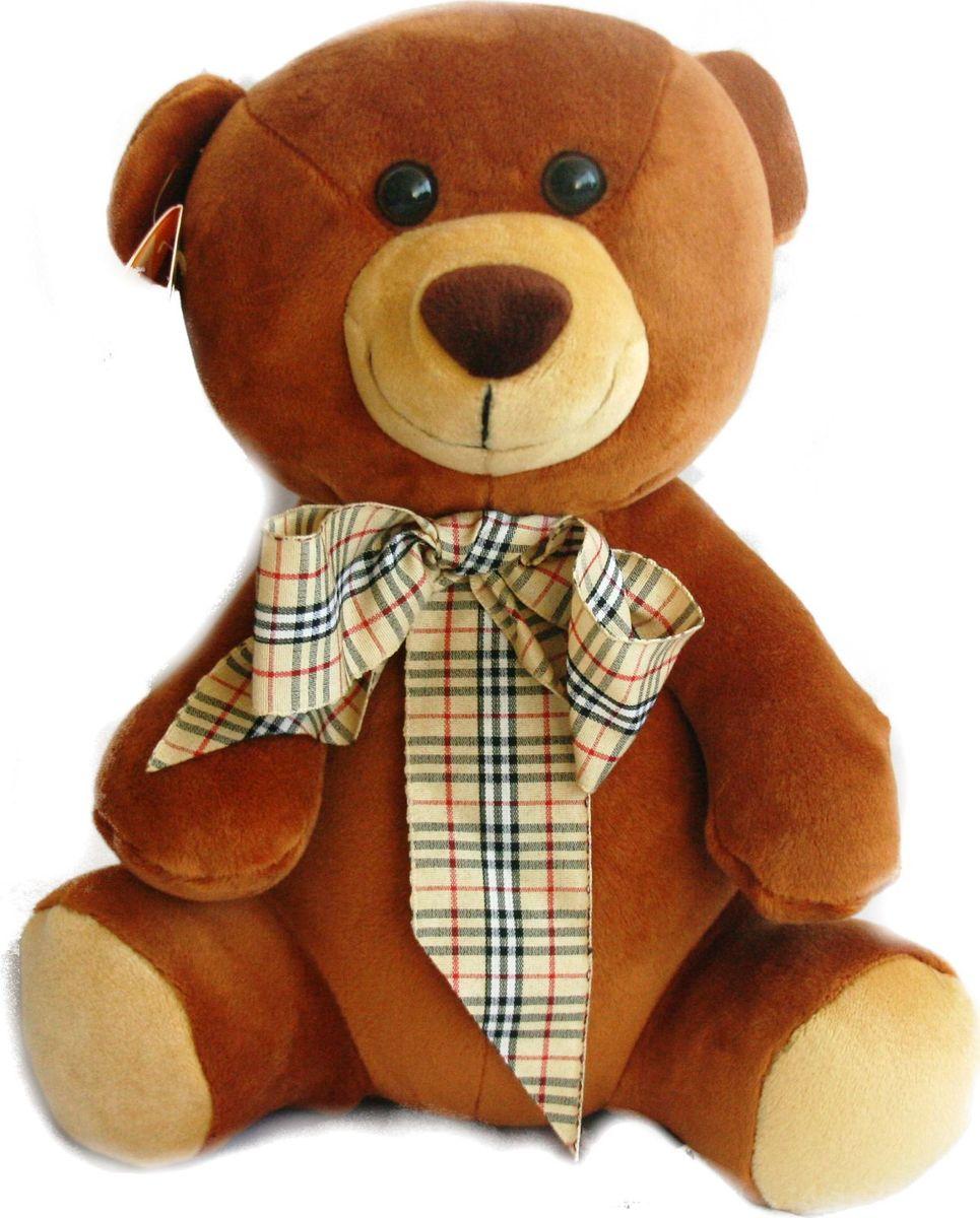 """Мягкая игрушка СмолТойс """"Медвежонок Мотя"""", цвет: коричневый, высота 30 см"""