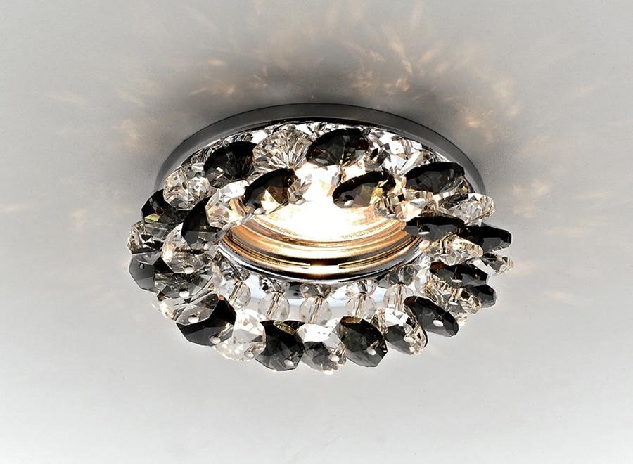 Встраиваемый светильник Ambrella light K206BK/CH ambrella встраиваемый светильник ambrella led s701 cl ch ww