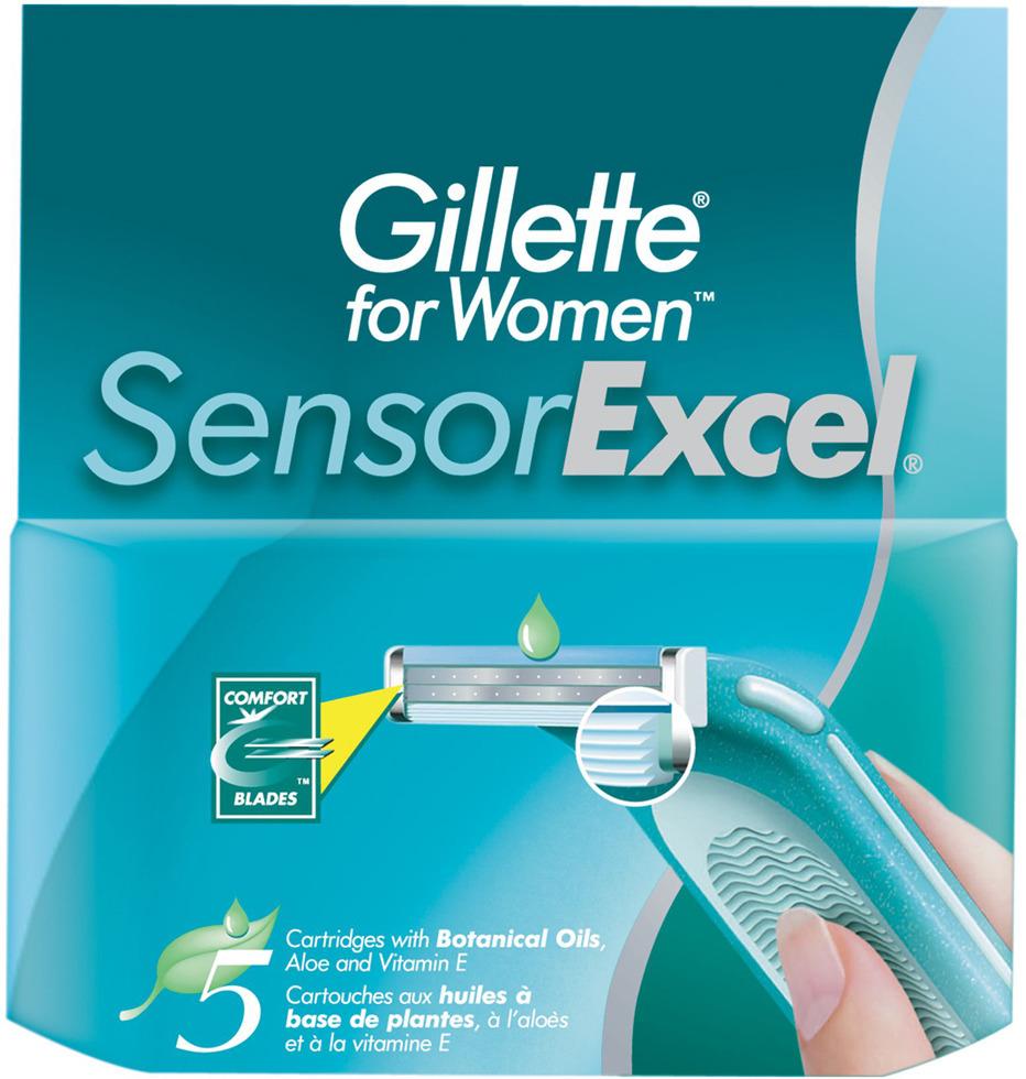Cменные кассеты для бритья SENSOR Excel, 5 шт