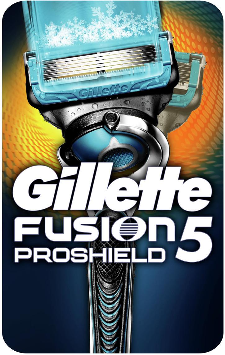 купить Мужская Бритва Gillette Fusion5 ProShield Chill с Охлаждающей Технологией и Смазывающими Полосками по цене 949 рублей
