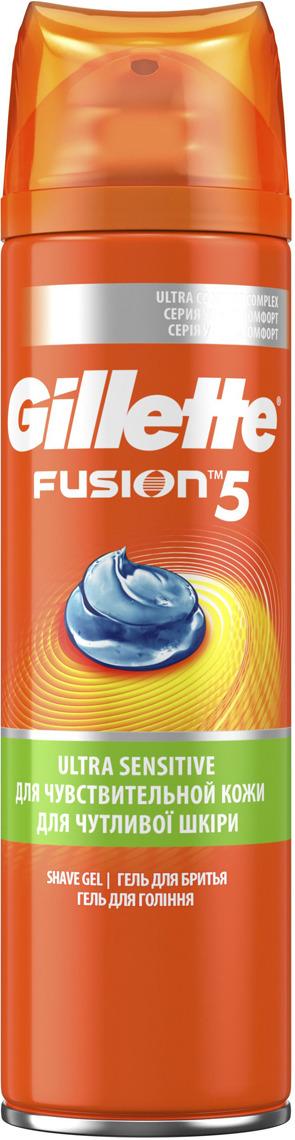 Мужской Гель Для Бритья Gillette Fusion5 Ultra Sensitive, 200 мл мужской гель для бритья gillette fusion5 ultra sensitive 75 мл