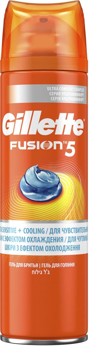 Гель Для Бритья Gillette Fusion5 Ultra Sensitive & Cooling, 200 мл