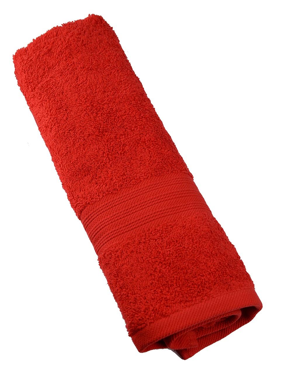 Полотенце махровое SEL, цвет: красный, 100х150 см. 2874