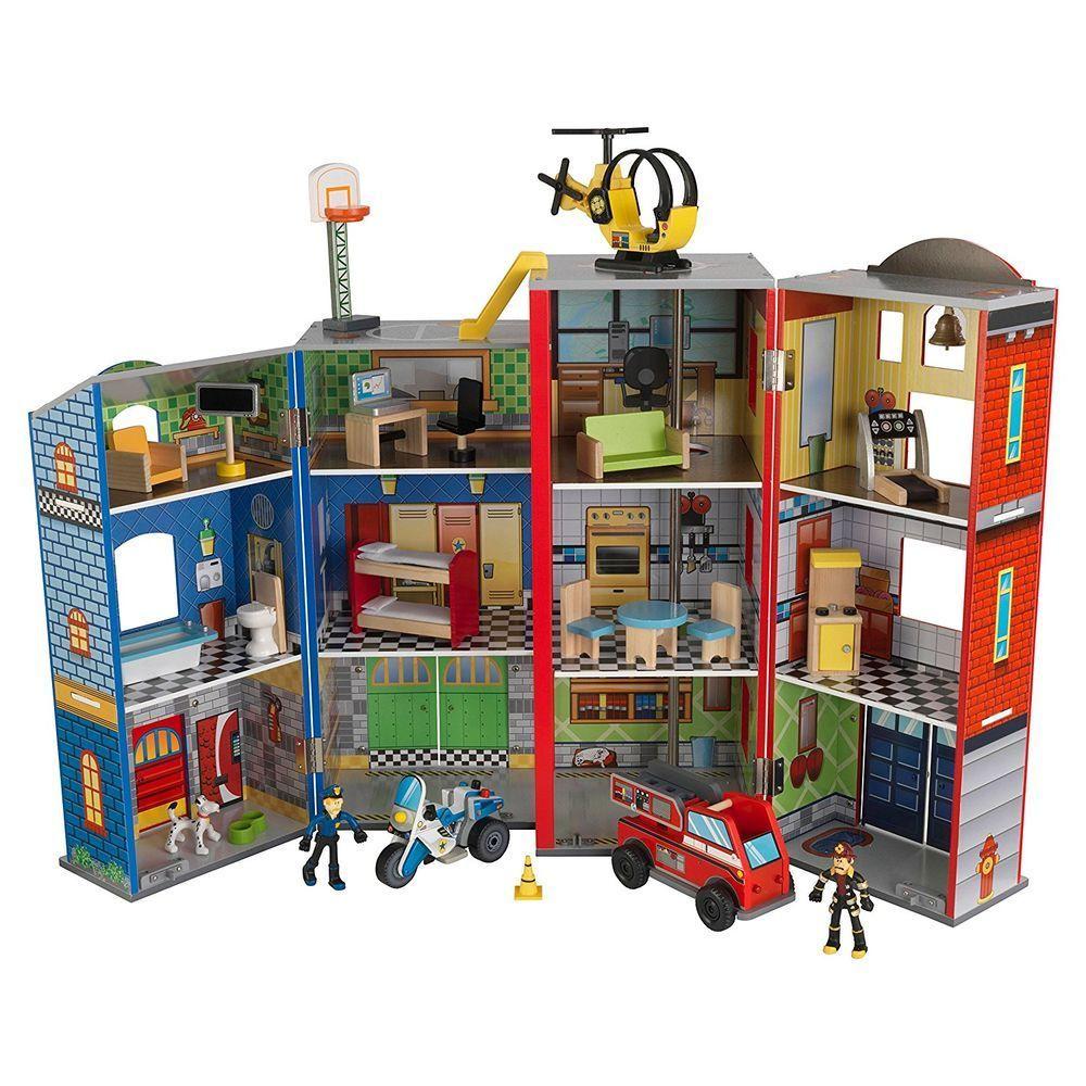"""Игровой набор KidKraft """"Здание спасательной службы"""" для мальчиков, 28 элементов"""
