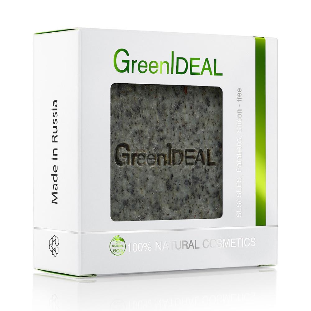 Мыло с травами, натуральное, ручной работы, скраб GreenIdeal