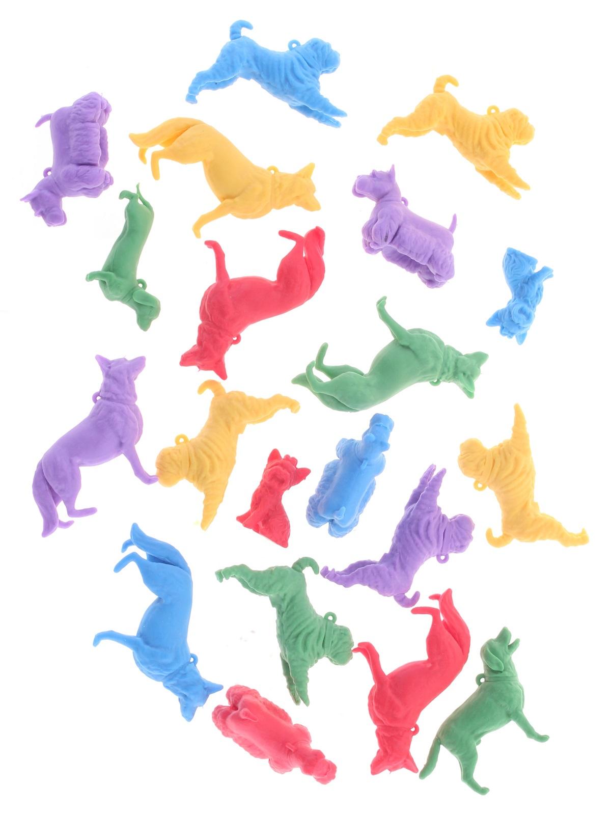 Набор фигурок Радужки Собаки для ванной, 20 шт игровые фигурки 1 toy набор фигурок крысы 6 шт