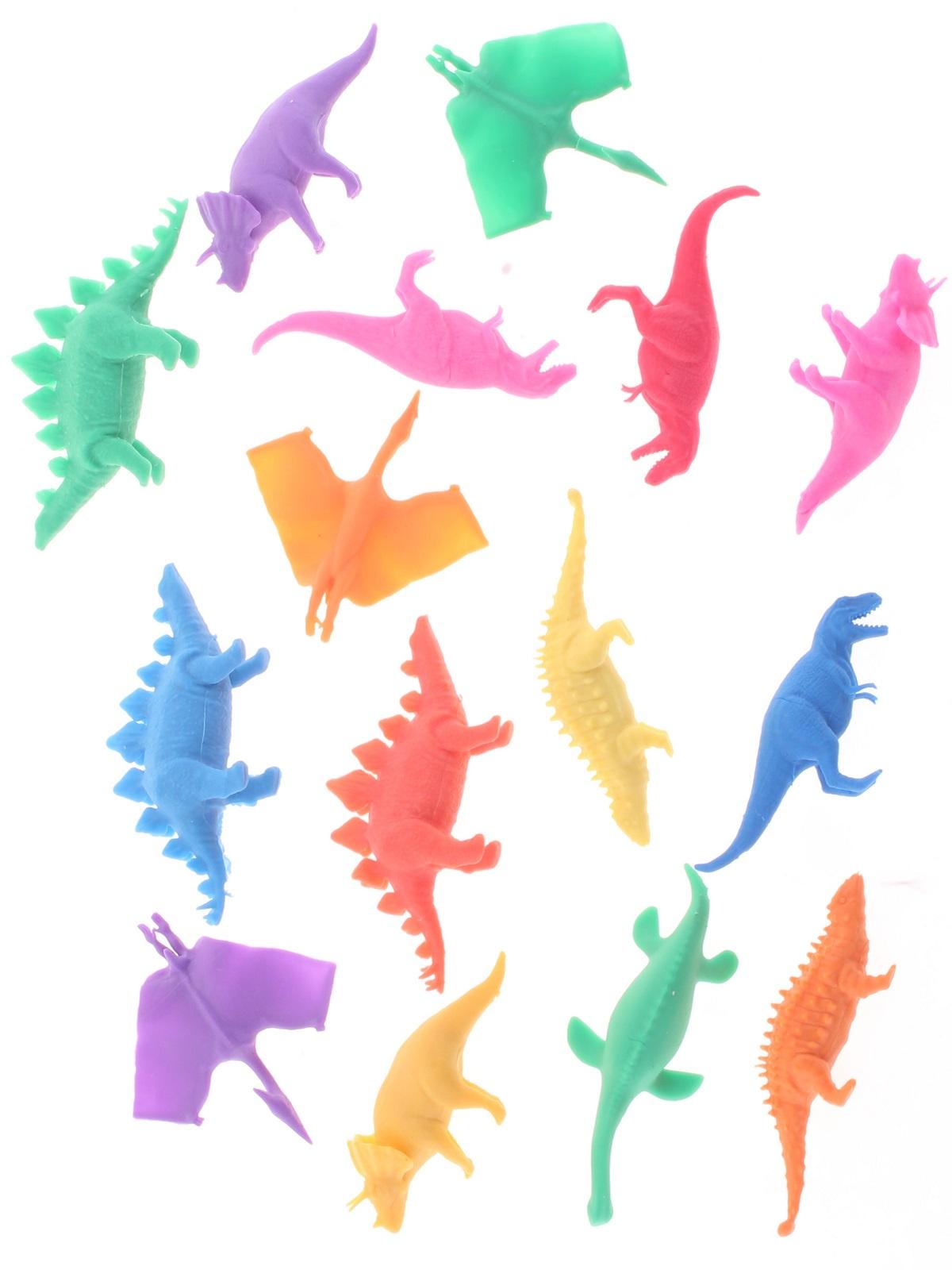"""Набор фигурок Радужки """"Динозавры"""" для ванной, 15 шт"""