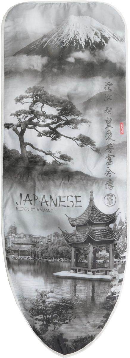 Чехол для гладильной доски Valiant Japanese Black, цвет: серый, 143 х 54 см чехол для гладильной доски eva узоры цвет розовый белый 120 х 38 см