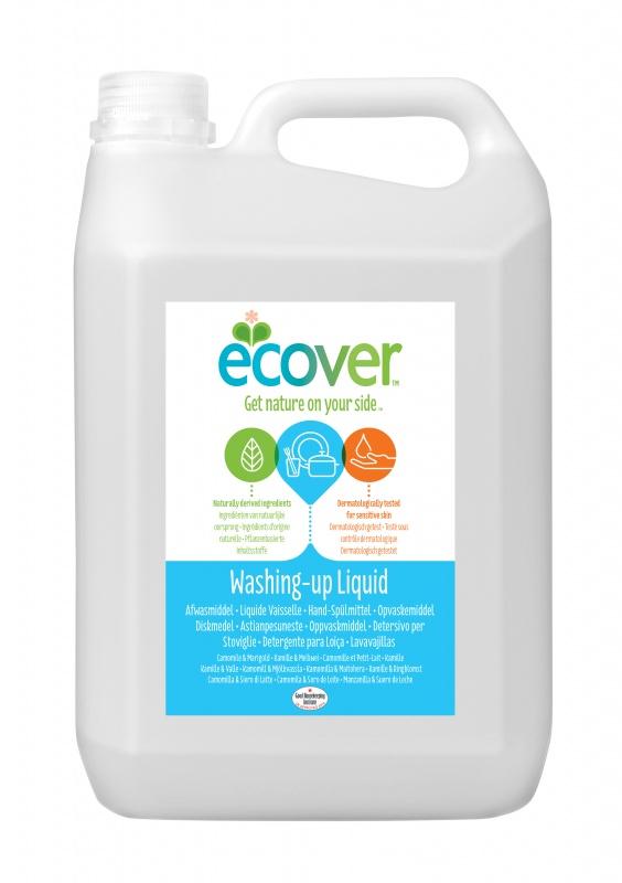 купить Жидкость для мытья посуды Ecover, с ромашкой и молочной сывороткой, 5 л по цене 2411 рублей