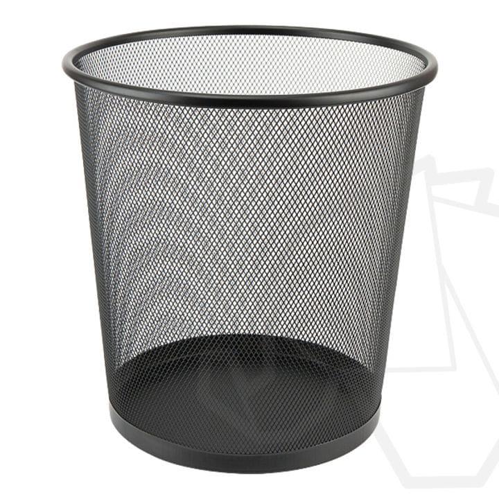 Корзина для бумаг Axent, 260x280 мм, металлическая, цвет: черный лоток куб для бумаг axent 2112 03 a металлический цвет серебристый 100 х 100 x 100 мм