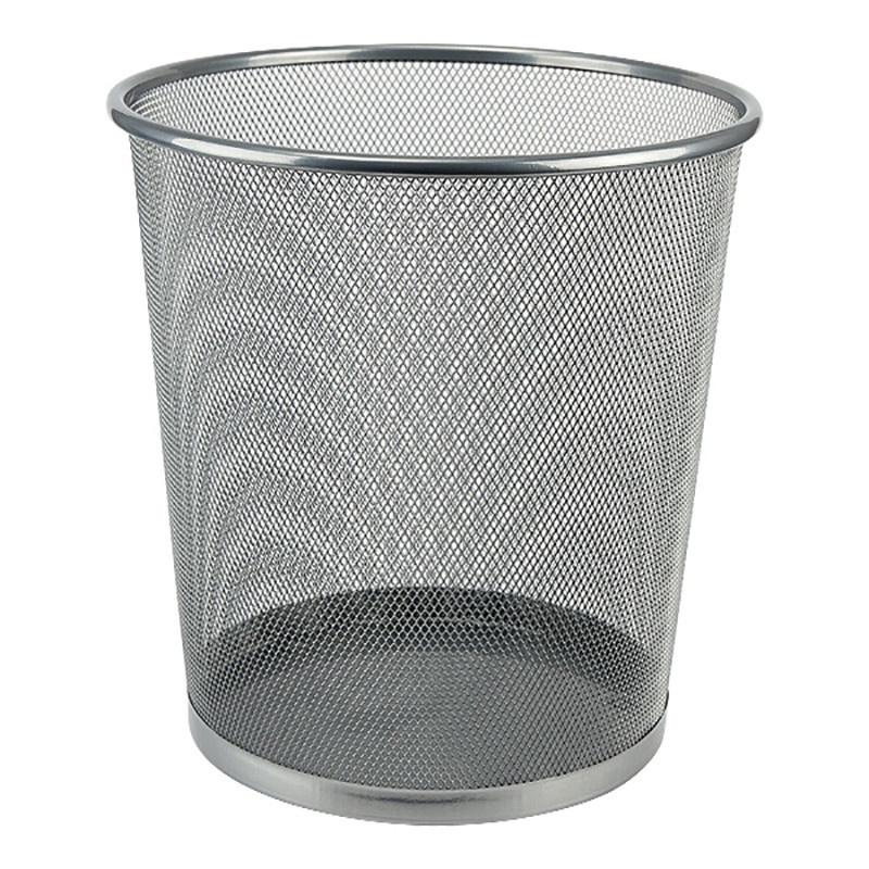 Корзина для бумаг Axent, 260x280 мм, металлическая, цвет: серебристый лоток куб для бумаг axent 2112 03 a металлический цвет серебристый 100 х 100 x 100 мм