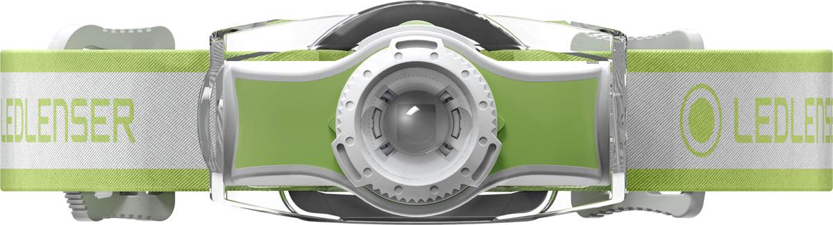 Фонарь налобный LED Lenser MH3, цвет: зелено-белый фонарь led lenser mh3 green 501593