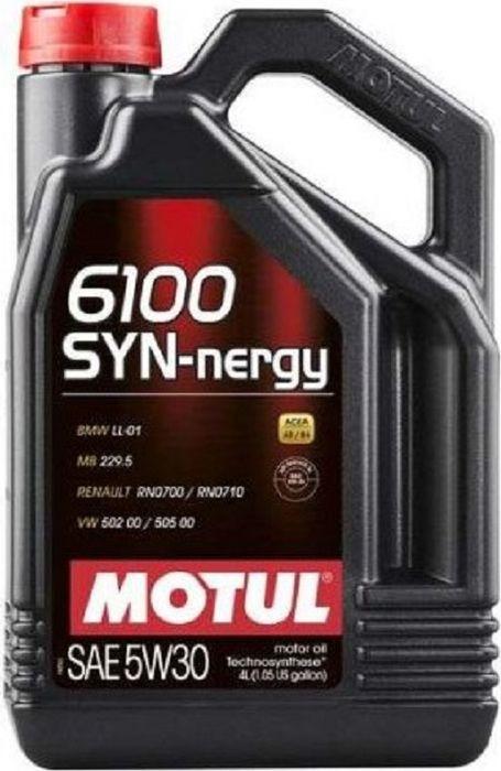 Масло моторное Motul 6100 Syn-Nergy SAE, синтетическое, 5W-40, SL/CF, 4 л все цены