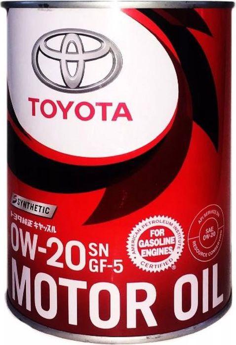 Масло моторное Toyota Motor Oil, синтетическое, 0W-20, SN, 1 л