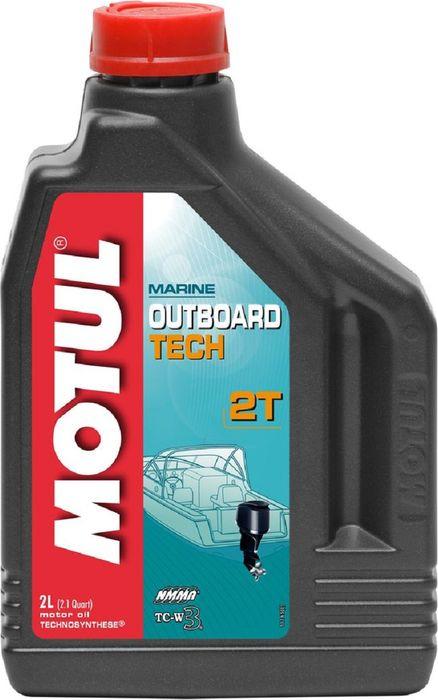 Масло моторное Motul Outboard 2T, полусинтетическое, 2 л