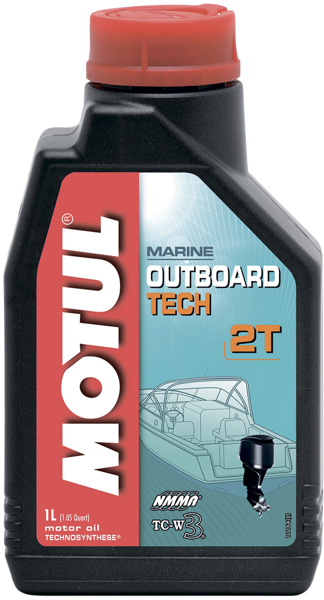 Масло моторное Motul Outboard Tech 2T, полусинтетическое, 1 л цены