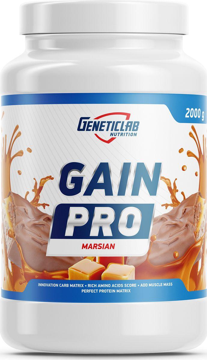 Гейнер Geneticlab Nutrition Gain Pro, нуга-карамель, 2 кг гейнер olimp sport nutrition gain bolic 6000 ваниль 3500 г