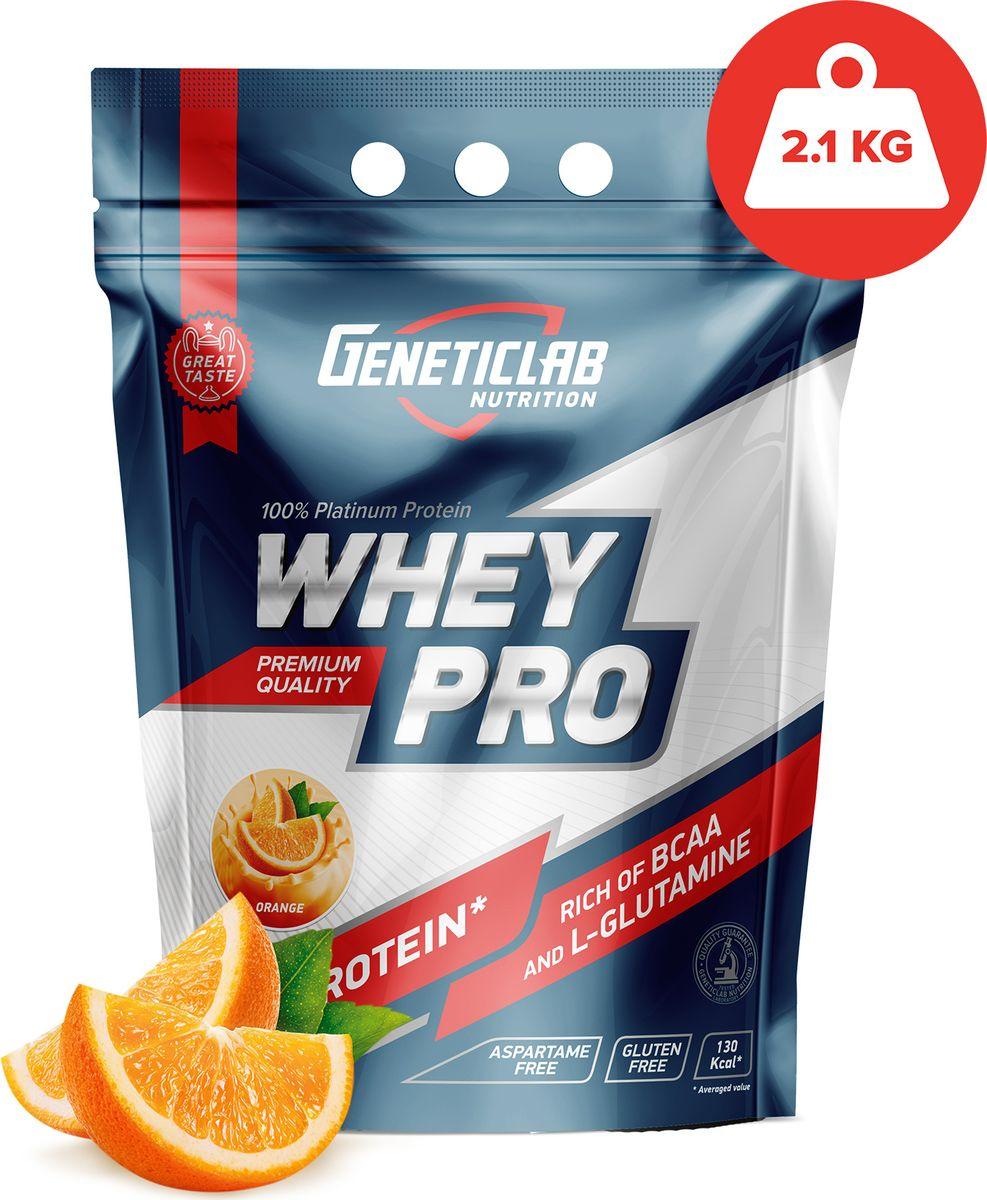 Протеин сывороточный Geneticlab Nutrition Whey Pro, апельсин, 2,1 кг цены