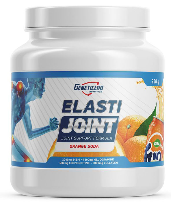 Глюкозамин и Хондроитин Geneticlab Nutrition Elasti Joint, фанта, 350 г глюкозамин gnc triflex 120