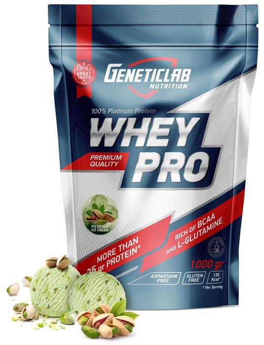 Протеин сывороточный Geneticlab Nutrition Whey Pro, фисташковое мороженое, 1 кг протеин сывороточный red star labs beowulf whey pro клубничный десерт 1 8 кг