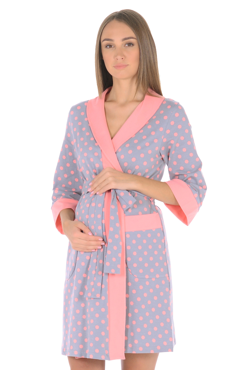 Халат Hunny Mammy комплект для беременных и кормящих hunny mammy халат сорочка ночная цвет розовый серый 1 нмк 07720 размер 46