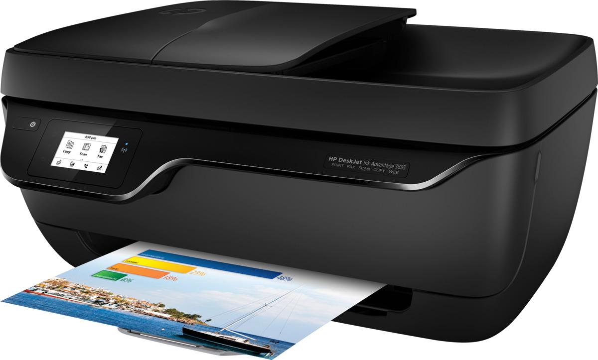 МФУ HP Deskjet Ink Advantage 3835, цвет: черный мфу струйный hp deskjet ink advantage 3835 a4 цветной струйный черный [f5r96c]