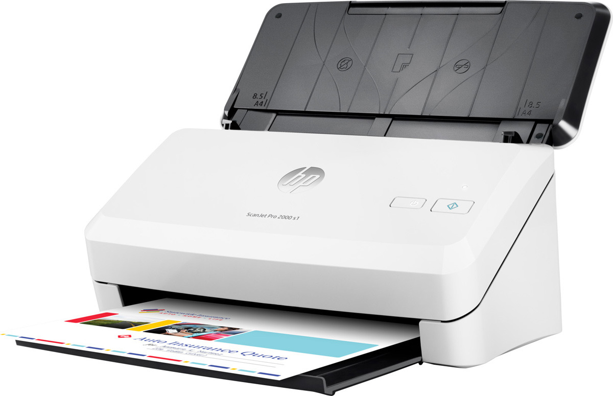 Сканер HP ScanJet Pro 2000 s1, цвет: белый