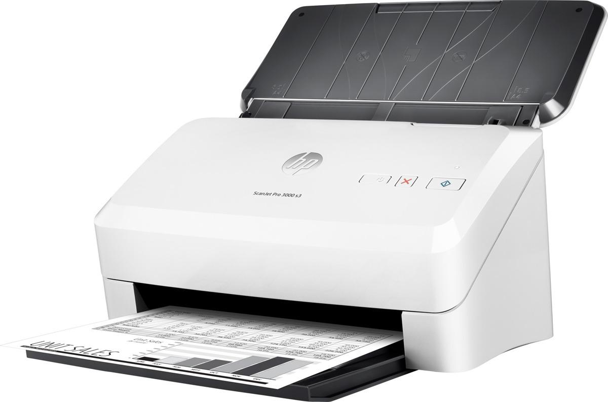 Сканер HP ScanJet Pro 3000 s3, цвет: белый