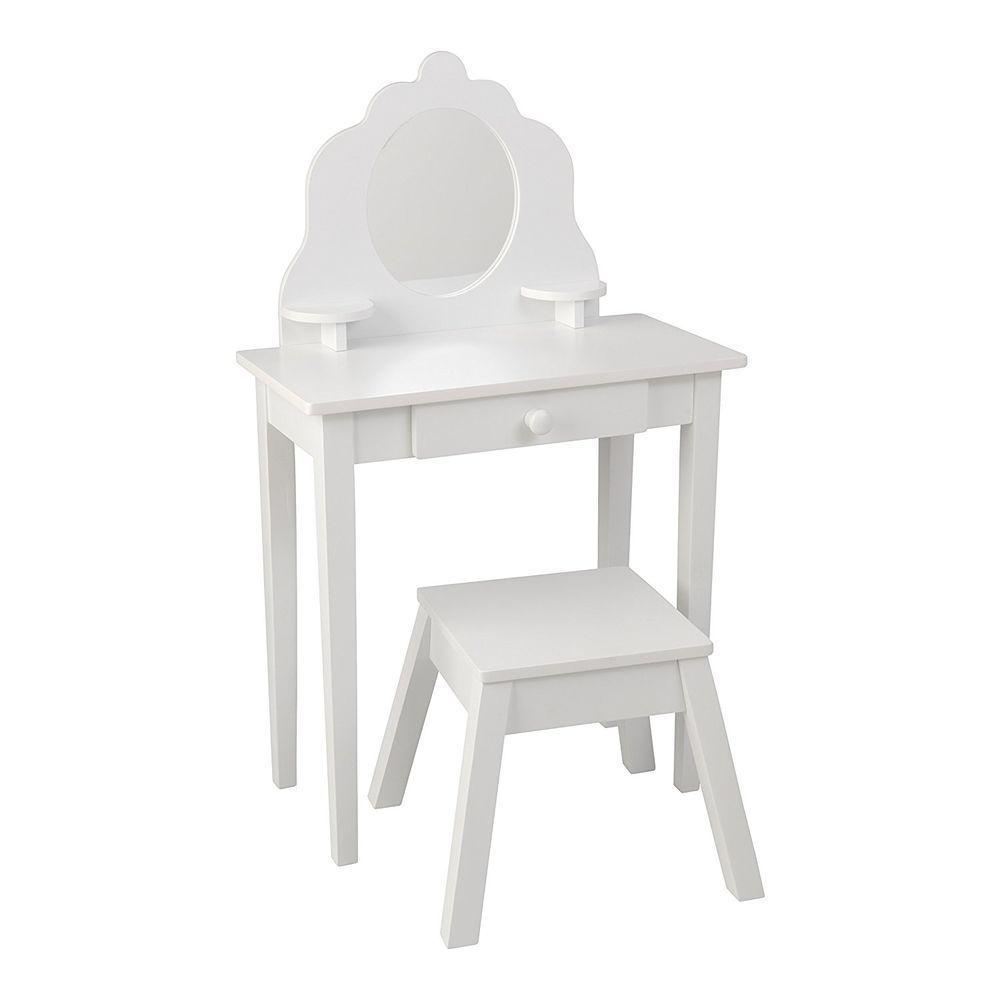 Фото - Туалетный столик KidKraft Модница, для девочки, из дерева, цвет:белый туалетный столик kidkraft белый туалетный столик из дерева для девочки модница white medium vanity