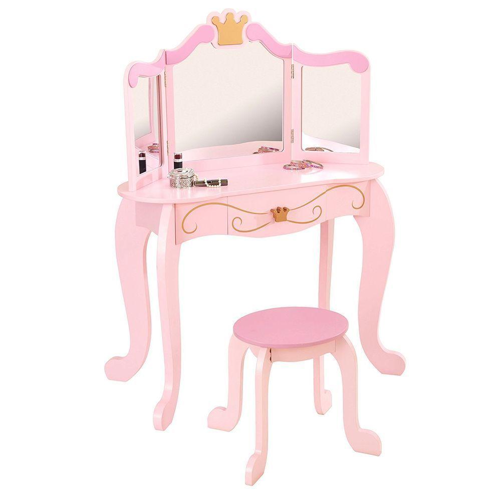 все цены на Туалетный столик (трельяж) с зеркалом для девочки