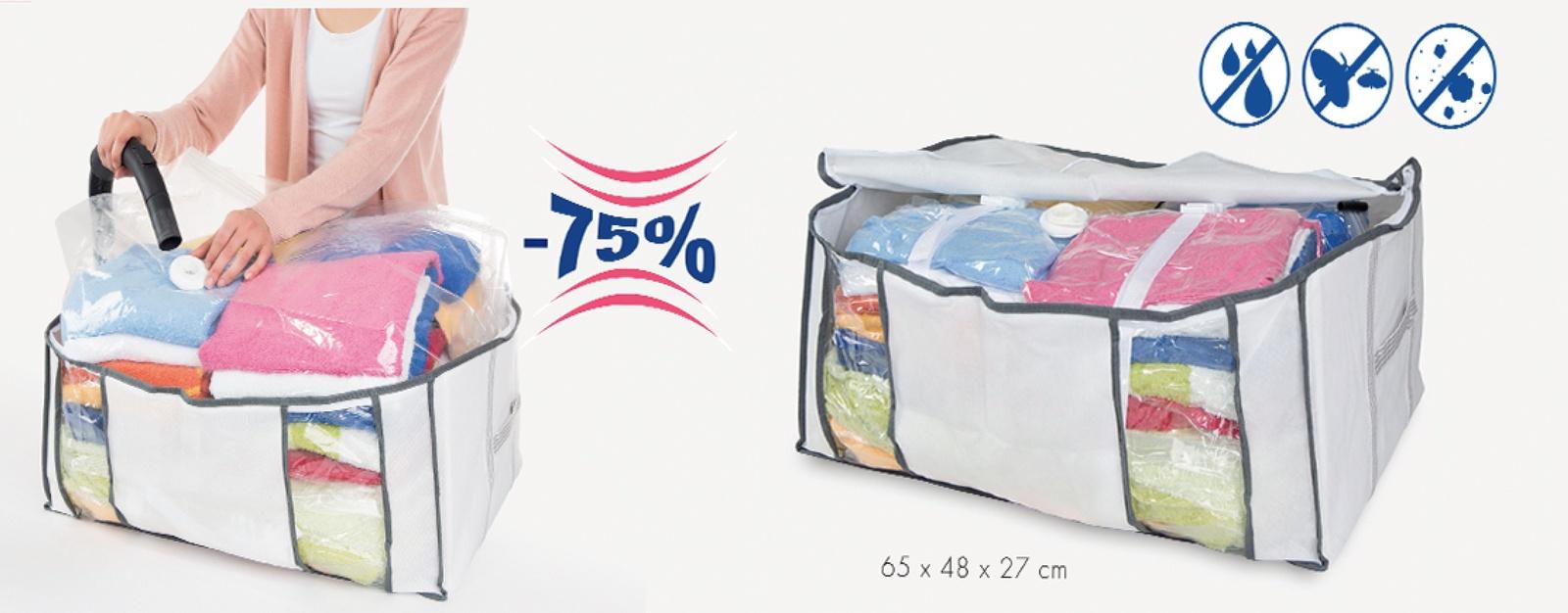купить Набор для хранения вещей Bella Casa «Multi», цвет: белый, 65x48x27 см. AZ25513 по цене 2843 рублей