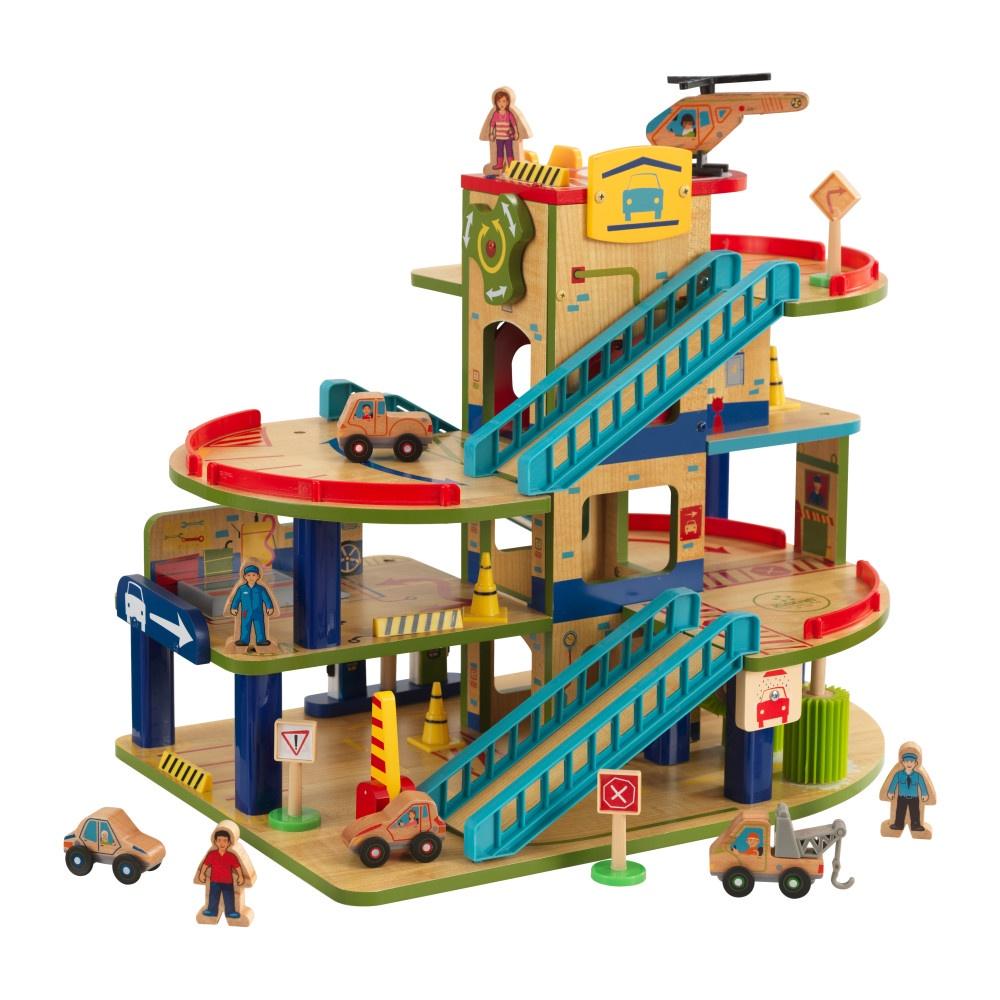 Игровой набор KidKraft, деревянная 4-х уровневая парковка. 63470_KE игровой набор kidkraft праздничное чаепитие