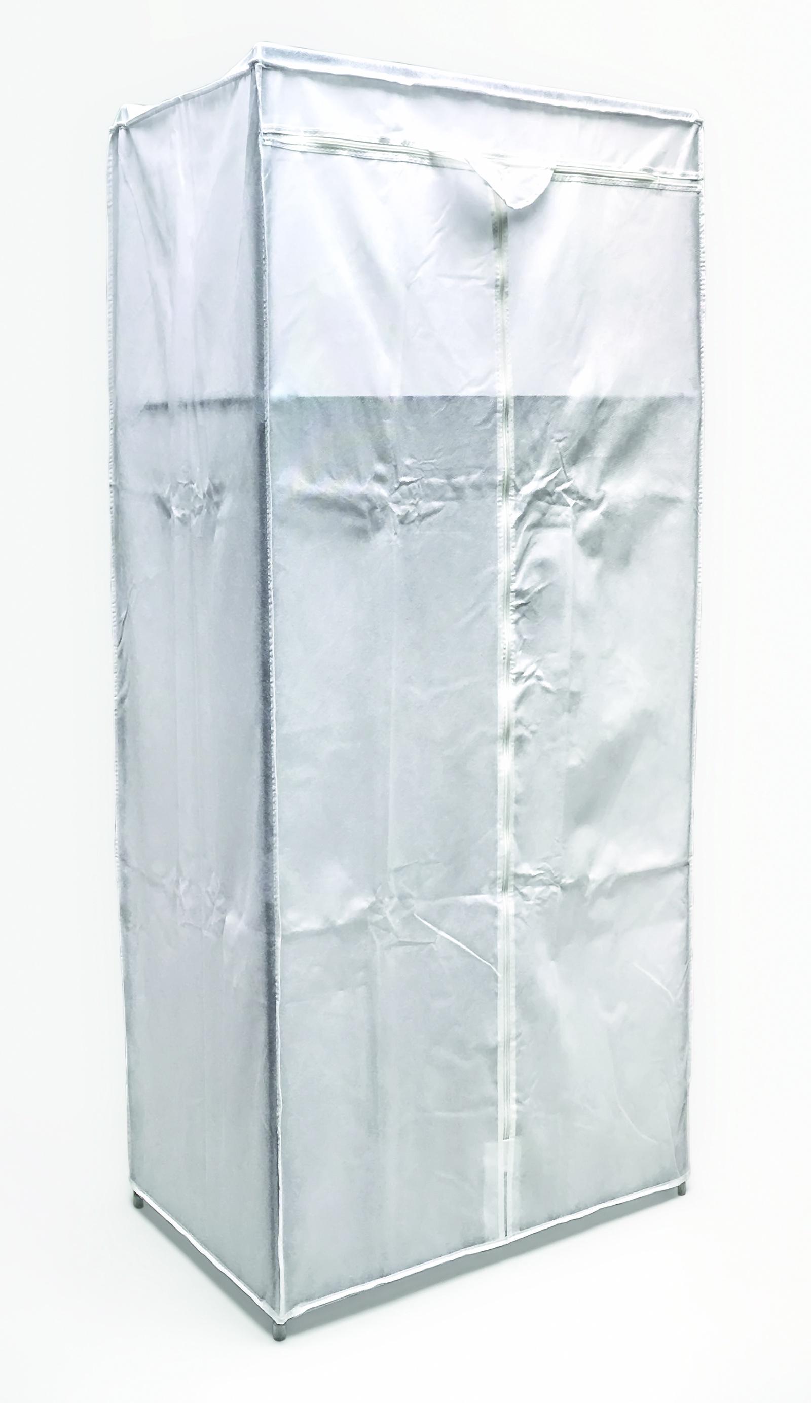 BELLACASA  Шкаф для одежды с планкой и дополнительной полочкой, размер 70 x 46 x 154 см, Нетканный материал (Полиэстер), прочный, стальной, разборный каркас. (8009)