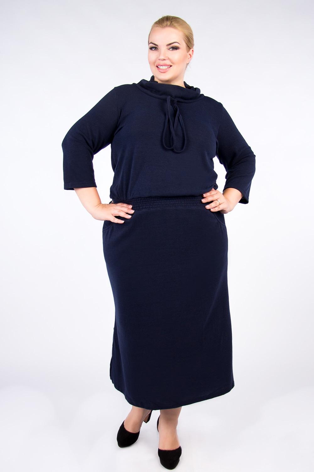 Платье Артесса кардиган большого размера с шалевым воротником на пуговицах