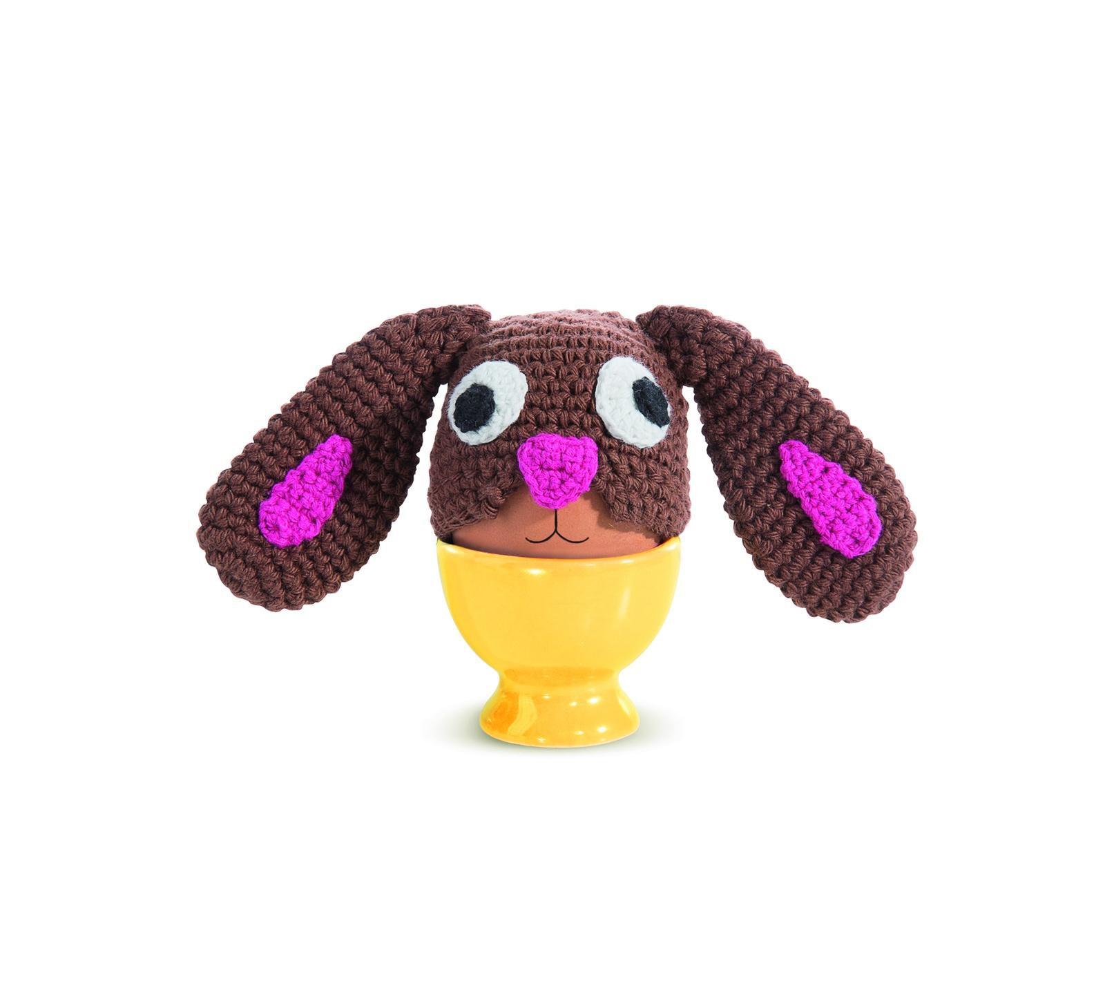 Чехол для яиц Donkey products Egg Bandit, цвет: коричневый, желтый цена