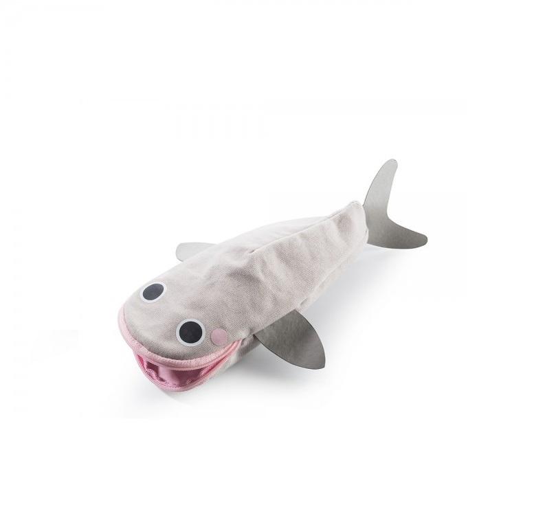 """Пенал Donkey products """"Hello Whale"""" для карандашей, цвет: серый/розовый, DO400402"""