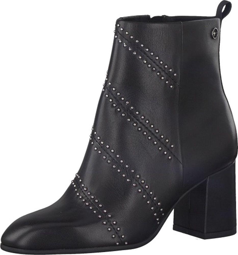 Ботильоны женские Tamaris, цвет: черный. 1-1-25041-31-001/220. Размер 381-1-25041-31-001/220Идеально подходят для ортопедических стелек. Съемная стелька идеально подходит женщинам, которым необходимо носить ортопедическую обувь, без ущерба внешнему виду.