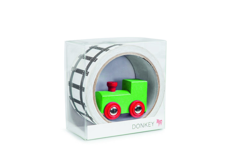 Трек Donkey products My first Train, DO300610DO300610Материал: бумага, картон, дерево. Цвет: Мультиколор. Размер: Высота 5, ширина 10, длина 10