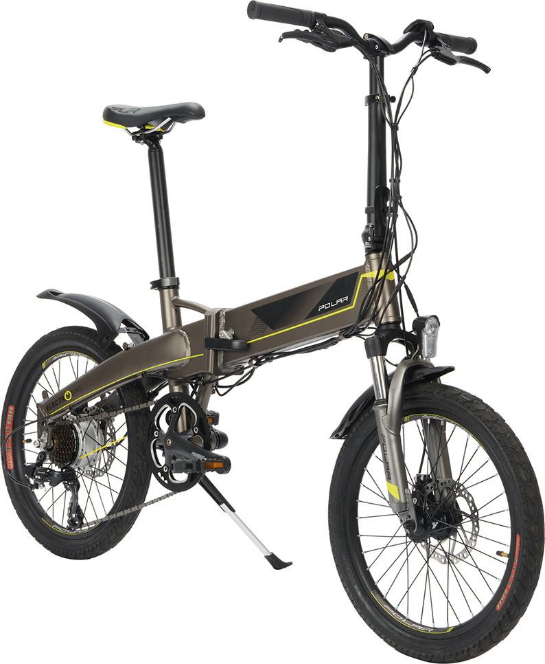 все цены на Электровелосипед Polaris Polar PBK 2007S, цвет: серый, желтый онлайн